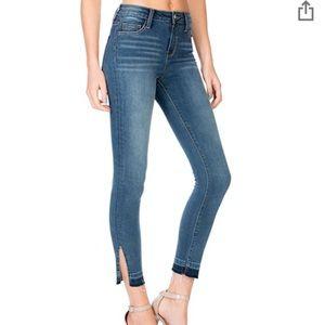 Cello Side Slit Skinny Jeans
